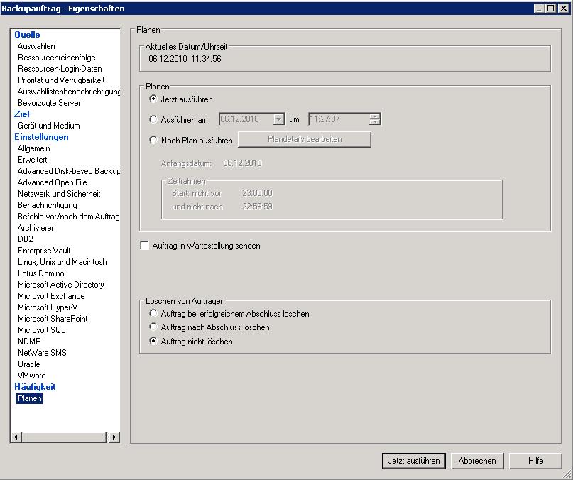 Updating catalogs backup exec 2010 r3