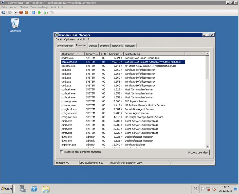Exblog Sicherung Von Virtuellen Windows Server 2008 R2