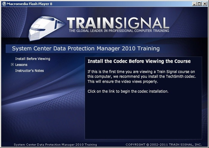 trainsignal system center data protection manager 2010 training