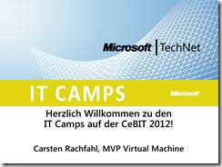Virtualisierng IT-Camp CeBIT 2012