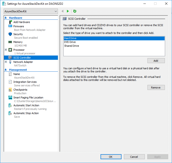 Installing Azure Stack Development Kit in a Hyper-V Nested VM
